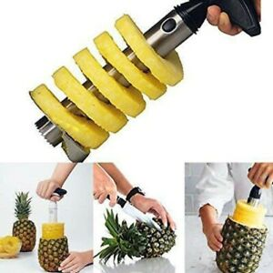 Fruit Pineapple Corer Slicer Cutter Peeler Stainless Steel Easy Kitchen Tool US