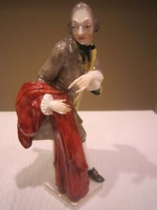 Nymphenburg porcelain figurine -  Cavalier from Comedy del Arte by Bustelli