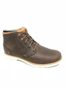 TEVA Men#x27;s Durban Bison Brown Leather Boots Shoes 1008302 Ankle Work
