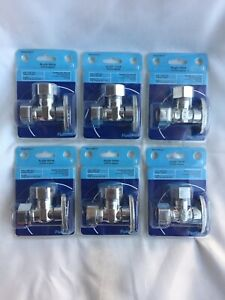 Lot of 6 5 8quot; OD x 7 16quot; or 1 2quot; OD Compression 1 4 Turn Angle Stop Valves $29.99
