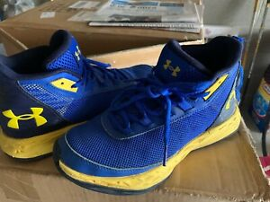 Under Armour Basketball Shoes— Blue  Yellow  Youth Size 5 Basketball