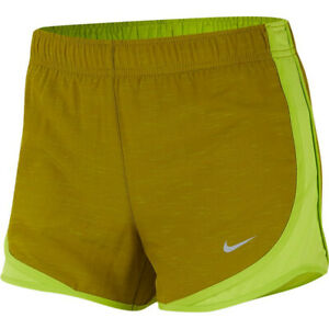 Nike Women's Dri Fit Tempo Running Shorts Cyber Green 3 Shorts 831558 389 NEW $14.99