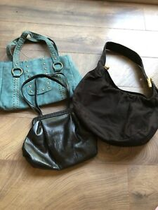 Purse Lot Of 3. Two Black Handbags And One Teal. Hamp;M Express