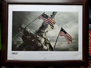 *GENUINE* The Monument Lithograph Limited Edition 74300 Bethesda Fallout 3 4 76