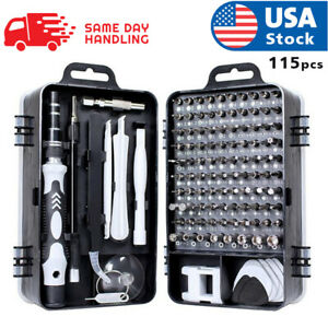 usa magnetic screwdriver bit set for iphone macbook tool kit set 117pcs