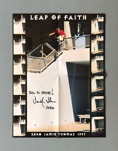 Zero Leap Of Faith Poster Signed by Jamie Thomas $25.00