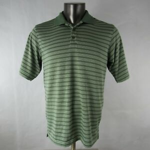 Under Armour S Small Polo Shirt Short Sleeve Striped Green Mens