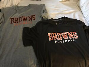 Cleveland Browns 2 Nike dry fit t shirts XXl grey and brown
