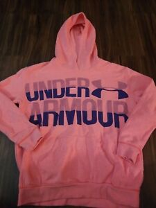 UNDER ARMOUR HOODIE GIRLS YOUTH LARGE PINK $14.99