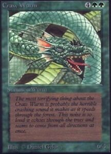 1x Craw Wurm x1 Alpha Slight Play, English BFG MTG Magic