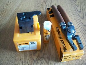LYMAN 45 CAL. BULLET CASTING EQUIPMENT. MOLD 3 452460 HANDLES SIZE DIE. NEW.