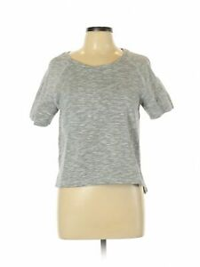 Philosophy Republic Clothing Women Gray Short Sleeve Top L