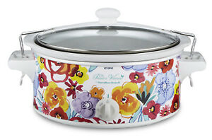 The Pioneer Woman Flea Market Floral 6 Quart Portable Slow Cooker for Kitchen