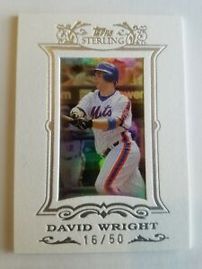 2007 Topps Sterling WHITE SUEDE Framed David Wright #66 16 50