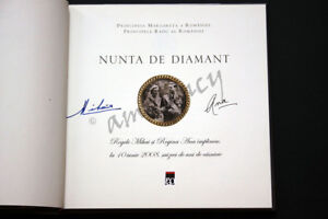 SIGNED ROYAL KING MICHAEL of ROMANIA QUEEN ANNE 2 AUTOGRAPHS Regele Mihai EUROPE $400.00
