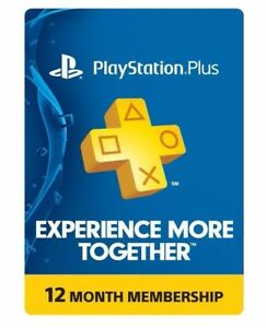 Sony PlayStation PS Plus 12 Month 1 Year Membership Subscription $39.99