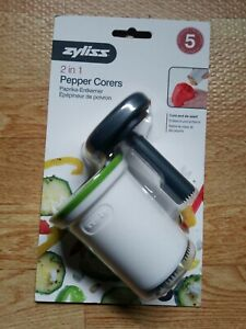 ZYLISS 2 in 1 Pepper Corers - Manual Kitchen Corer Tool - Stainless Steel Blade