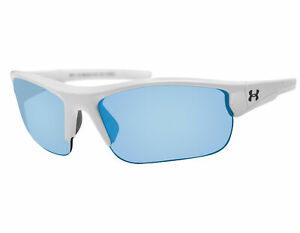 NEW Under Armour Propel 8600106 111761 Satin White Crystal Gray Blue Sunglasses $58.65