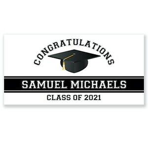 Class of 2020 Personalized Graduation Party Banner, Congratulations Graduate