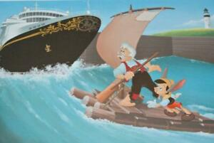 DCL Disney WONDER 2013 Don Ducky Williams PINOCCHIO GEPETTO LE 1150 Lithograph
