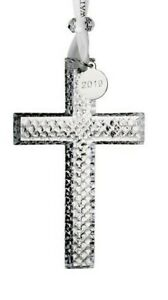 WATERFORD 40035480  2019 CRYSTAL CROSS Ornament New In Signature Box $60