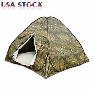 Portable Camouflage Pop Up Camping Hiking Automatic Instant Tent 3 4 Person Camo