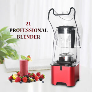 Commercial Noise Reduction Powerful Blender Juicer Smoothie Maker Electric 2L