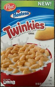 NEW POST HOSTESS TWINKIES CEREAL 19 OZ (538g) BOX FREE WORLD WIDE SHIPPING BUYIT