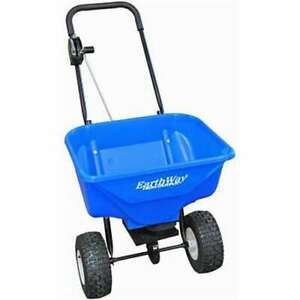 Earthway Heavy Duty High Output Snow and Ice Melt Spreader, Blue (For Parts)