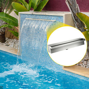 11.8 Rectangular Waterfall Pool Fountain Stainless Steel Wall Pond Spillway $57.65