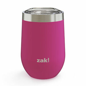 Zak Stainless Steel Double Wall Insulated Spill Proof Lid 11.5 oz. Wine Tumbler