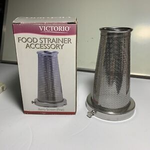 Fine Screen For Victorio Model 250 Food Strainer Berry Screen VKP250-1 Food Prep