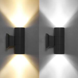 Outdoor Wall Light Dual Head Fixture Up Down LED Aluminum Waterproof Sconce Lamp