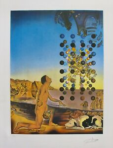 SALVADOR DALI CONTEMPLATION Hand Signed & Stamped Limited Edition Lithograph Art