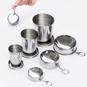 Stainless Steel Portable Outdoor Travel Folding Collapsible Cups Telescopic New