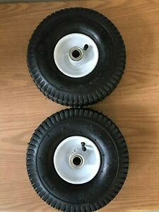 2 - WHEEL ASSEMBLY 4.10/3.50-4 TIRE 3-1/4 CTR 3/4