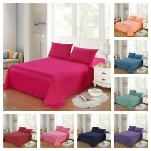 Fitted Bed Sets Flat Sheet 1900 Series 14 Deep Pocket Microfiber Sheets
