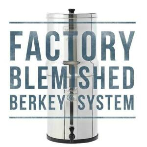 Berkey Water Filter Purify w 2 BB 9 Black Filters System Authorized Blemished