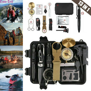 13 In 1 Outdoor Survival Kit Camping Emergency Gear Tactical Tools EDC Tool Case