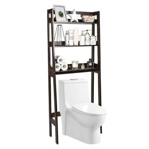 Over The Toilet Storage Organizer Bathroom Space Saver Rack with 3-Tier Shelf