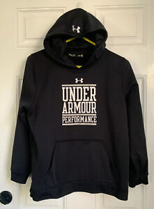 Under Armour Performance Hoodie Pullover Youth XL Black White $4.25