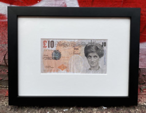 Banksy Di-Faced Tenner Offset Lithograph Authenticated by Agent Framed w LOA