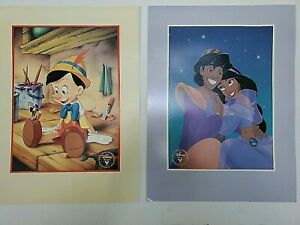 Walt Disney's 1993 Aladdin & Pinocchio Commemorative Lithographs $21.40