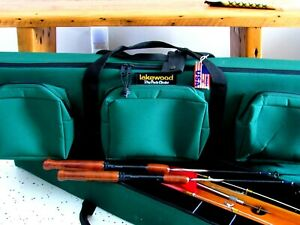 HARD ROD CASE ICE TOTE #2 LAKEWOOD TACKLE BOX FISHING LURE WALLEYE PERCH MUSKIE