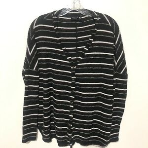 Out From Under Womens Jojo Thermal Oversized Cardigan Top Size XS Black Q $24.29