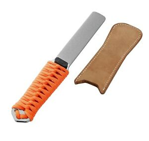 Dual-Grit Diamond Knife Tool Sharpener, Sharpening Stone with Leather Strop