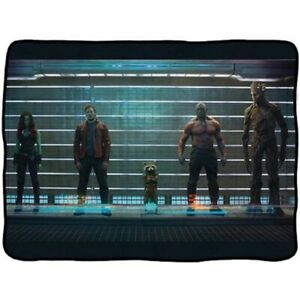 NEW RARE Line Up Guardians of the Galaxy Plush Throw Gift Blanket Groot Starlord