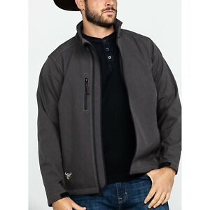 Cowboy Hardware Men#x27;s Barbed Line Poly Shell Brown Jacket 192097 664