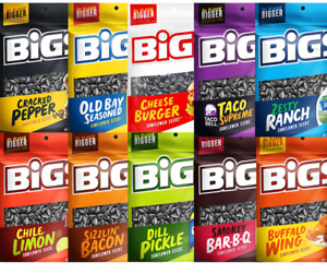 BIGS Sunflower Seeds Taco Bell, Ranch, Pickle, Old Bay, Wings, Bacon, BBQ 5.35oz