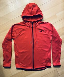 Under Armour Womens Hoodie Full Zip Red Size M Cold Gear Storm Great Condition! $17.99